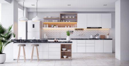 amazing airy bright light white kitchen