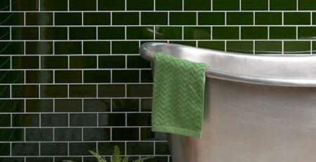 tiles in a green bathroom